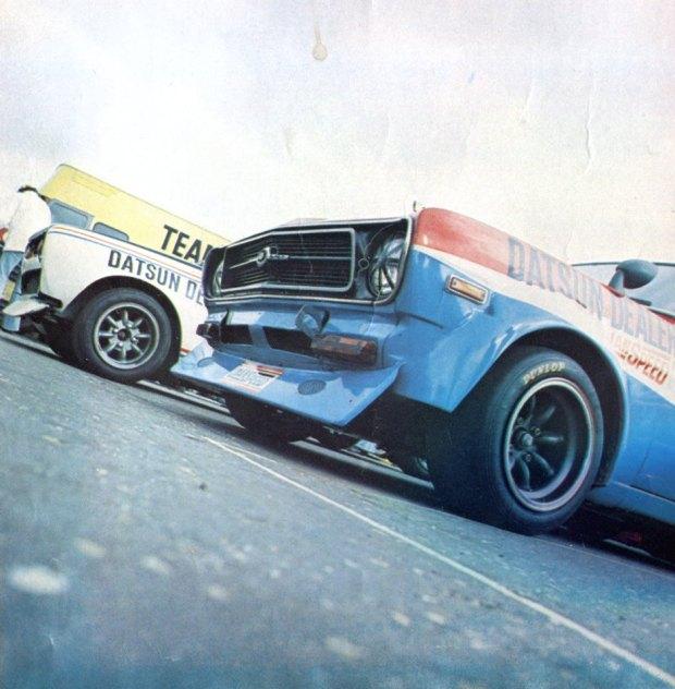 Datsuns on circuit Zandvoort Holland 1974